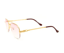 VF Mayor Half Rim 18KT Gold (Nickel Pink) Side, VF by Vintage Frames, glasses frames, eyeglasses online, eyeglass frames, mens glasses, womens glasses, buy glasses online, designer eyeglasses, vintage sunglasses, retro sunglasses, vintage glasses, sunglass, eyeglass, glasses, lens, vintage frames company, vf