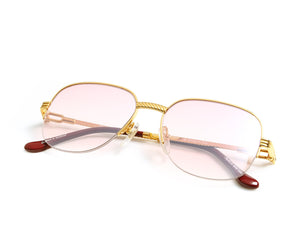 VF Mayor Half Rim 18KT Gold (Nickel Pink), VF by Vintage Frames, vintage frames, vintage frame, vintage sunglasses, vintage glasses, retro sunglasses, retro glasses, vintage glasses, vintage designer sunglasses, vintage design glasses, eyeglass frames, glasses frames, sunglass frames, sunglass, eyeglass, glasses, lens, jewelry, vintage frames company, vf