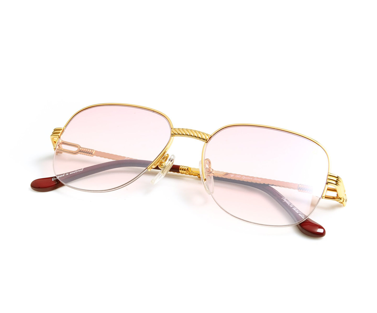 VF Mayor Half Rim 18KT Gold (Nickel Pink) Thumb, VF by Vintage Frames , glasses frames, eyeglasses online, eyeglass frames, mens glasses, womens glasses, buy glasses online, designer eyeglasses, vintage sunglasses, retro sunglasses, vintage glasses, sunglass, eyeglass, glasses, lens, vintage frames company, vf