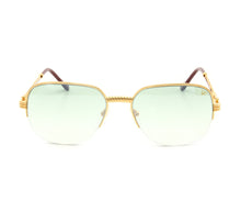 VF Mayor Half Rim 18KT Gold (Powder Green) Front, VF by Vintage Frames, glasses frames, eyeglasses online, eyeglass frames, mens glasses, womens glasses, buy glasses online, designer eyeglasses, vintage sunglasses, retro sunglasses, vintage glasses, sunglass, eyeglass, glasses, lens, vintage frames company, vf