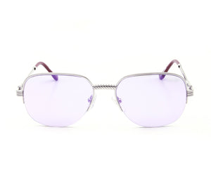 VF Mayor Half Rim 18KT White Gold (Smoke Flash Purple) Front, VF Half-Rim, glasses frames, eyeglasses online, eyeglass frames, mens glasses, womens glasses, buy glasses online, designer eyeglasses, vintage sunglasses, retro sunglasses, vintage glasses, sunglass, eyeglass, glasses, lens, vintage frames company, vf
