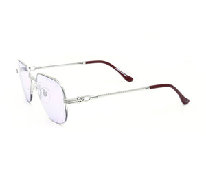 VF Mayor Half Rim 18KT White Gold (Smoke Flash Purple) Side, VF Half-Rim, glasses frames, eyeglasses online, eyeglass frames, mens glasses, womens glasses, buy glasses online, designer eyeglasses, vintage sunglasses, retro sunglasses, vintage glasses, sunglass, eyeglass, glasses, lens, vintage frames company, vf