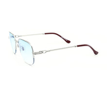 VF Mayor Half Rim 18KT White Gold (Tiffany Blue) Side,VF by Vintage Frames , glasses frames, eyeglasses online, eyeglass frames, mens glasses, womens glasses, buy glasses online, designer eyeglasses, vintage sunglasses, retro sunglasses, vintage glasses, sunglass, eyeglass, glasses, lens, vintage frames company, vf