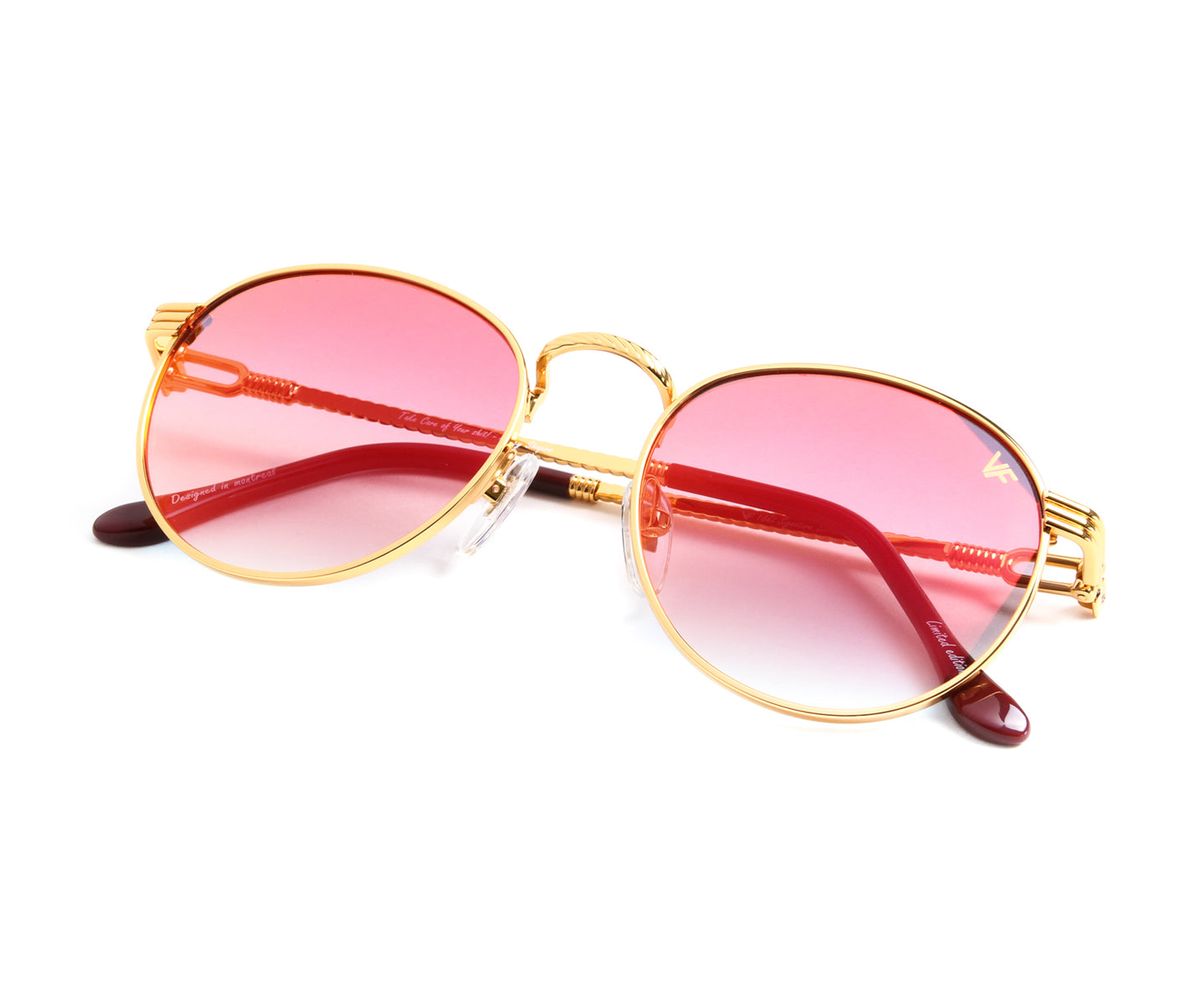 VF Miami Vice 18KT Gold (Grape / Yellow), VF by Vintage Frames , glasses frames, eyeglasses online, eyeglass frames, mens glasses, womens glasses, buy glasses online, designer eyeglasses, vintage sunglasses, retro sunglasses, vintage glasses, sunglass, eyeglass, glasses, lens, vintage frames company, vf