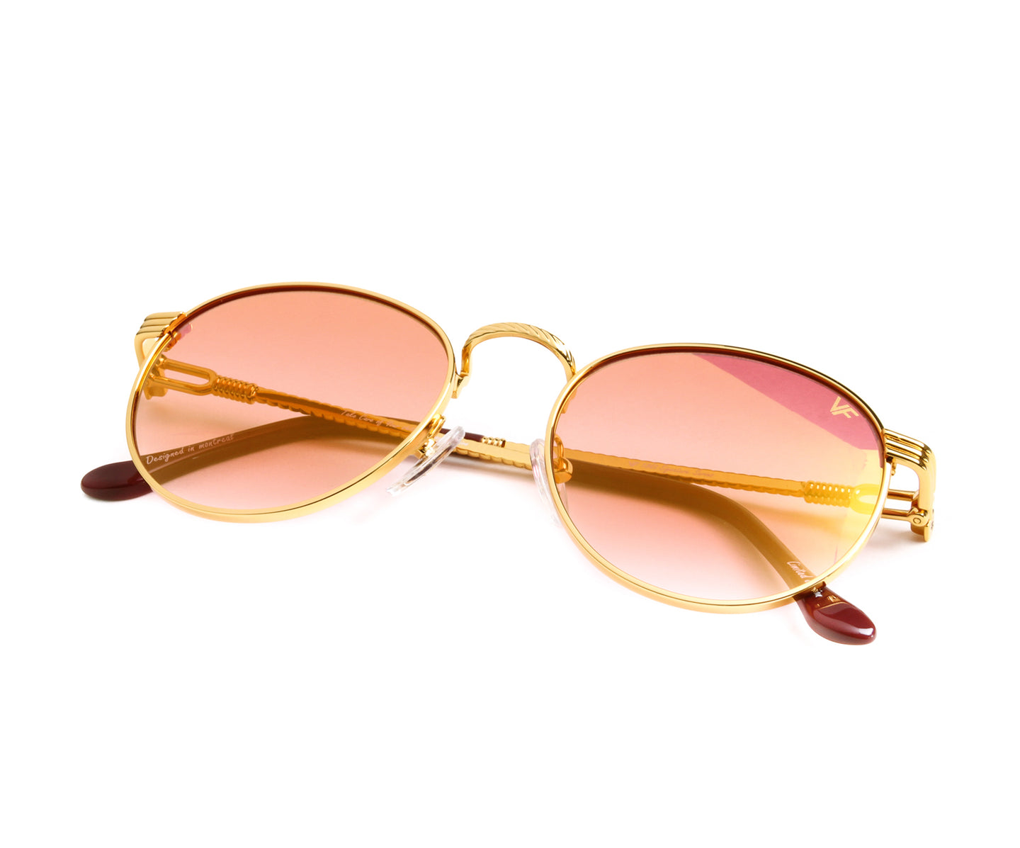 VF Miami Vice 18KT Gold (Red), VF by Vintage Frames , glasses frames, eyeglasses online, eyeglass frames, mens glasses, womens glasses, buy glasses online, designer eyeglasses, vintage sunglasses, retro sunglasses, vintage glasses, sunglass, eyeglass, glasses, lens, vintage frames company, vf