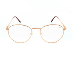 VF Miami Vice 18KT Rose Gold (Clear), VF by Vintage Frames, glasses frames, eyeglasses online, eyeglass frames, mens glasses, womens glasses, buy glasses online, designer eyeglasses, vintage sunglasses, retro sunglasses, vintage glasses, sunglass, eyeglass, glasses, lens, vintage frames company, vf