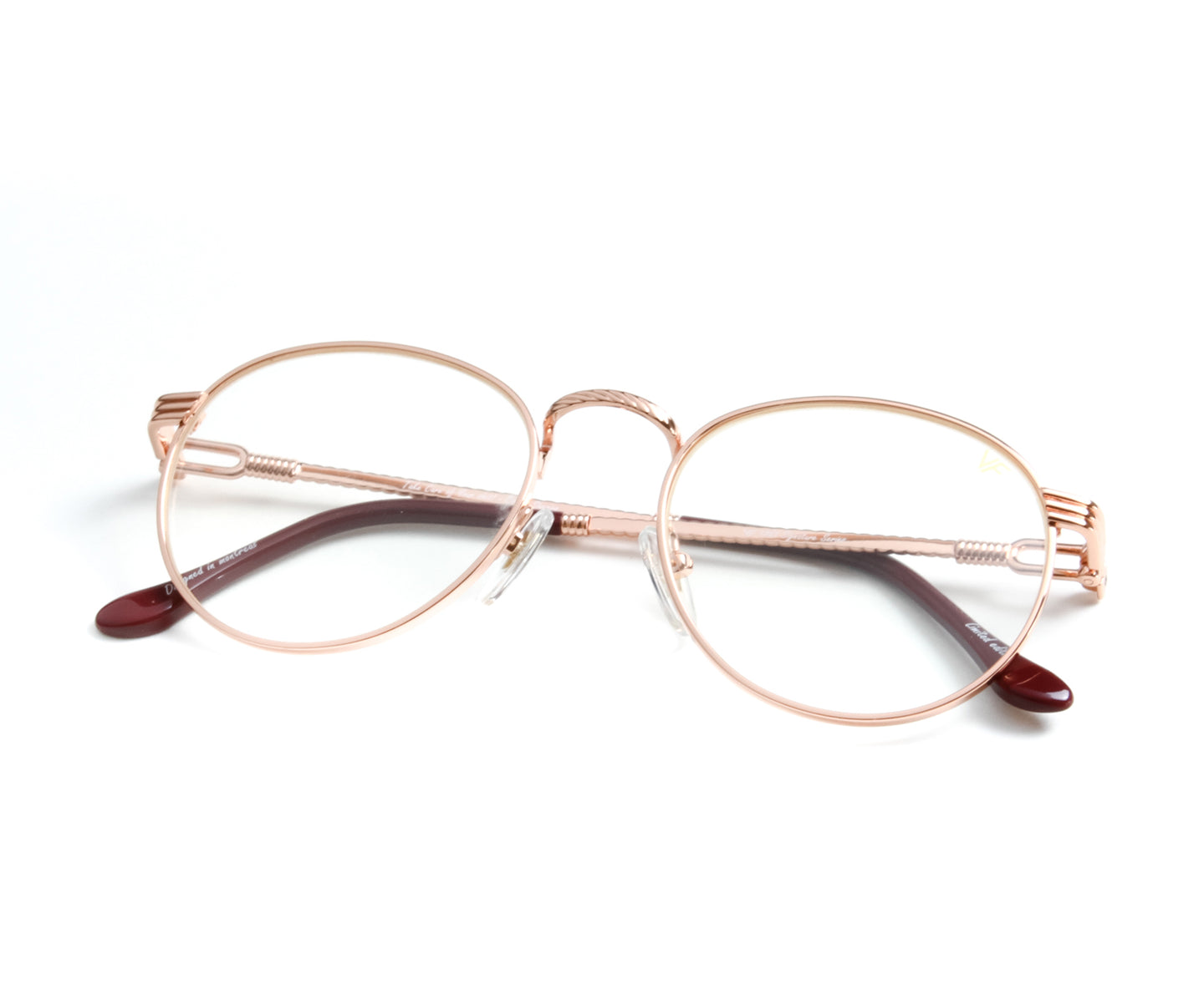 VF Miami Vice 18KT Rose Gold (Clear), VF by Vintage Frames , glasses frames, eyeglasses online, eyeglass frames, mens glasses, womens glasses, buy glasses online, designer eyeglasses, vintage sunglasses, retro sunglasses, vintage glasses, sunglass, eyeglass, glasses, lens, vintage frames company, vf