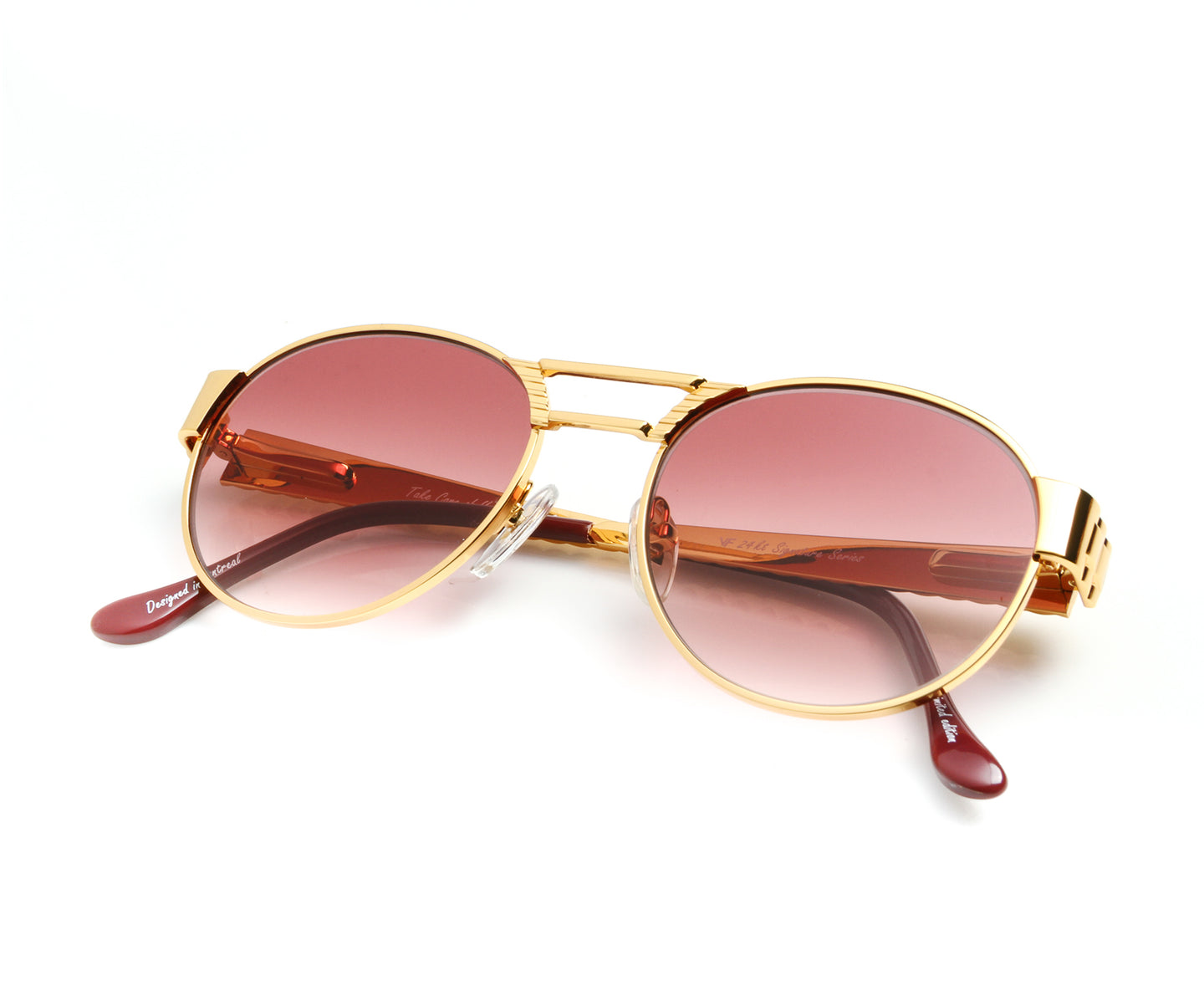 VF Jubilee 24KT Gold (Burgundy Gradient) Thumb, VF Masterpiece , glasses frames, eyeglasses online, eyeglass frames, mens glasses, womens glasses, buy glasses online, designer eyeglasses, vintage sunglasses, retro sunglasses, vintage glasses, sunglass, eyeglass, glasses, lens, vintage frames company, vf