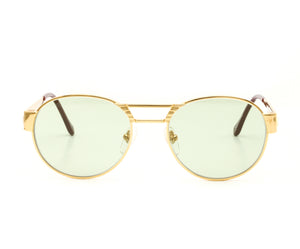 VF Jubilee 24KT Gold (Money Green) Front, VF Masterpiece, glasses frames, eyeglasses online, eyeglass frames, mens glasses, womens glasses, buy glasses online, designer eyeglasses, vintage sunglasses, retro sunglasses, vintage glasses, sunglass, eyeglass, glasses, lens, vintage frames company, vf