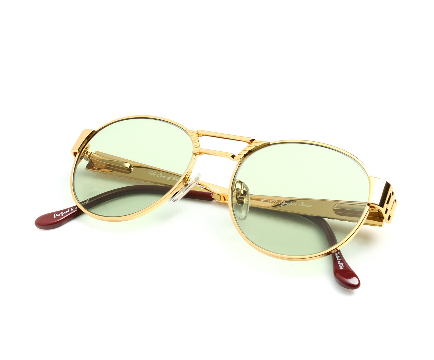 VF Jubilee 24KT Gold (Money Green) Thumb, VF Masterpiece , glasses frames, eyeglasses online, eyeglass frames, mens glasses, womens glasses, buy glasses online, designer eyeglasses, vintage sunglasses, retro sunglasses, vintage glasses, sunglass, eyeglass, glasses, lens, vintage frames company, vf