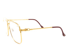 Narcos Masterpiece 18KT Gold Signature Edition (Clear) Side, VF Masterpiece, glasses frames, eyeglasses online, eyeglass frames, mens glasses, womens glasses, buy glasses online, designer eyeglasses, vintage sunglasses, retro sunglasses, vintage glasses, sunglass, eyeglass, glasses, lens, vintage frames company, vf