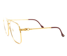 Narcos Masterpiece 18KT Gold Signature Edition (Clear Flash Gold) Side, VF Masterpiece, glasses frames, eyeglasses online, eyeglass frames, mens glasses, womens glasses, buy glasses online, designer eyeglasses, vintage sunglasses, retro sunglasses, vintage glasses, sunglass, eyeglass, glasses, lens, vintage frames company, vf