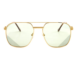 Narcos Masterpiece 18KT Gold Signature Edition (Picasso Green) Front, VF Masterpiece, glasses frames, eyeglasses online, eyeglass frames, mens glasses, womens glasses, buy glasses online, designer eyeglasses, vintage sunglasses, retro sunglasses, vintage glasses, sunglass, eyeglass, glasses, lens, vintage frames company, vf