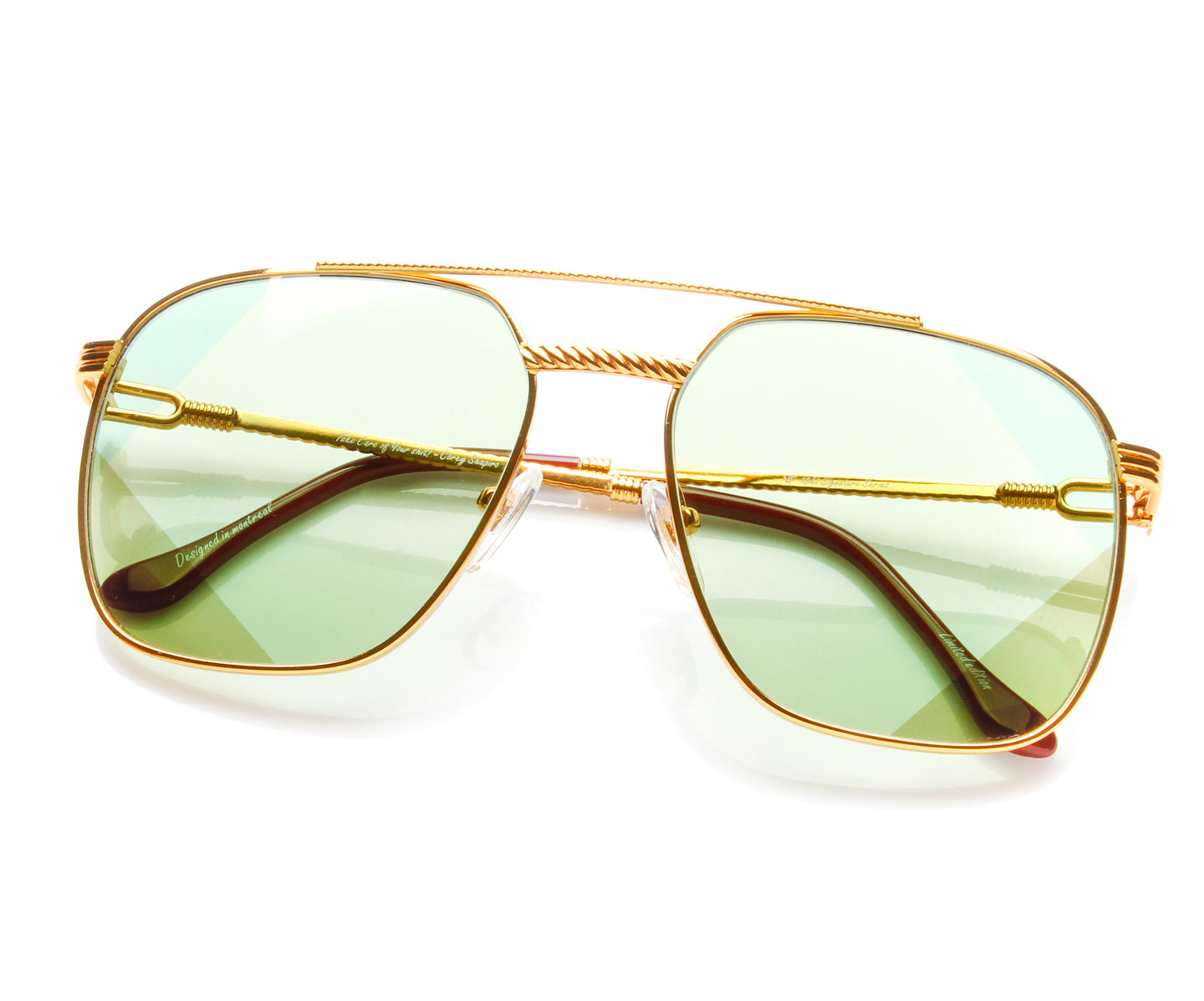 Narcos Masterpiece 18KT Gold Signature Edition (Picasso Green), VF Masterpiece , glasses frames, eyeglasses online, eyeglass frames, mens glasses, womens glasses, buy glasses online, designer eyeglasses, vintage sunglasses, retro sunglasses, vintage glasses, sunglass, eyeglass, glasses, lens, vintage frames company, vf