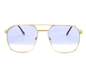 Narcos Masterpiece 18KT Gold Signature Edition (Royal Blue Strip) Front, VF Masterpiece, glasses frames, eyeglasses online, eyeglass frames, mens glasses, womens glasses, buy glasses online, designer eyeglasses, vintage sunglasses, retro sunglasses, vintage glasses, sunglass, eyeglass, glasses, lens, vintage frames company, vf