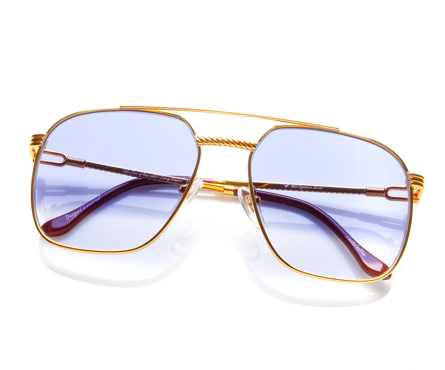 Narcos Masterpiece 18KT Gold Signature Edition (Royal Blue Strip), VF Masterpiece , glasses frames, eyeglasses online, eyeglass frames, mens glasses, womens glasses, buy glasses online, designer eyeglasses, vintage sunglasses, retro sunglasses, vintage glasses, sunglass, eyeglass, glasses, lens, vintage frames company, vf