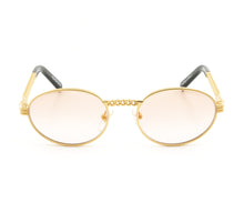 VF Cuban Link Pac 24KT Gold (Blush Flash Gold) Front, VF Masterpiece, glasses frames, eyeglasses online, eyeglass frames, mens glasses, womens glasses, buy glasses online, designer eyeglasses, vintage sunglasses, retro sunglasses, vintage glasses, sunglass, eyeglass, glasses, lens, vintage frames company, vf