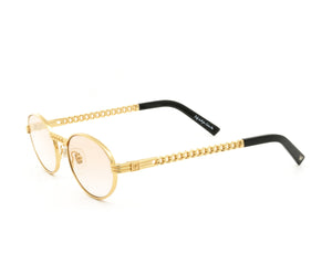 VF Cuban Link Pac 24KT Gold (Blush Flash Gold) Side, VF Masterpiece, glasses frames, eyeglasses online, eyeglass frames, mens glasses, womens glasses, buy glasses online, designer eyeglasses, vintage sunglasses, retro sunglasses, vintage glasses, sunglass, eyeglass, glasses, lens, vintage frames company, vf