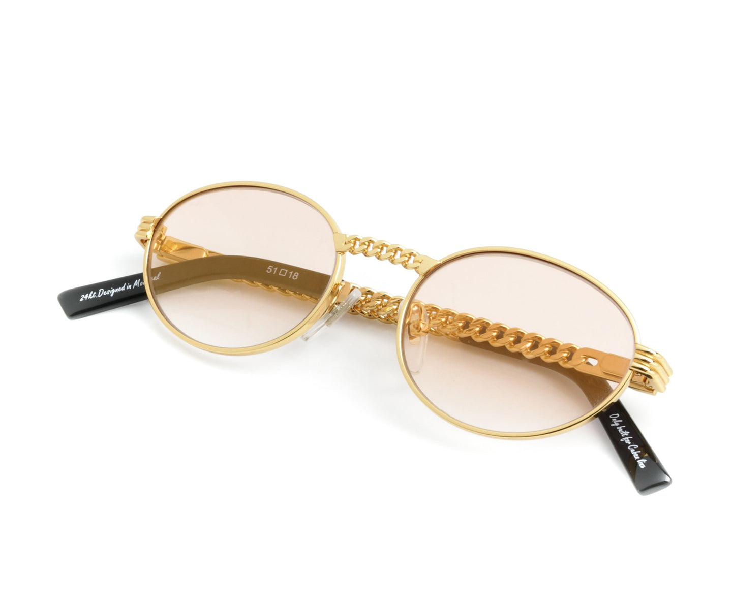 VF Cuban Link Pac 24KT Gold (Blush Flash Gold) Thumb, VF Masterpiece , glasses frames, eyeglasses online, eyeglass frames, mens glasses, womens glasses, buy glasses online, designer eyeglasses, vintage sunglasses, retro sunglasses, vintage glasses, sunglass, eyeglass, glasses, lens, vintage frames company, vf