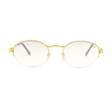 VF Pac Half Rim 18KT Gold (Brown Smoke) Front,VF by Vintage Frames , glasses frames, eyeglasses online, eyeglass frames, mens glasses, womens glasses, buy glasses online, designer eyeglasses, vintage sunglasses, retro sunglasses, vintage glasses, sunglass, eyeglass, glasses, lens, vintage frames company, vf