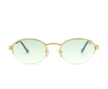VF Pac Half Rim 18KT Gold (Powder Green) Front, VF by Vintage Frames, glasses frames, eyeglasses online, eyeglass frames, mens glasses, womens glasses, buy glasses online, designer eyeglasses, vintage sunglasses, retro sunglasses, vintage glasses, sunglass, eyeglass, glasses, lens, vintage frames company, vf