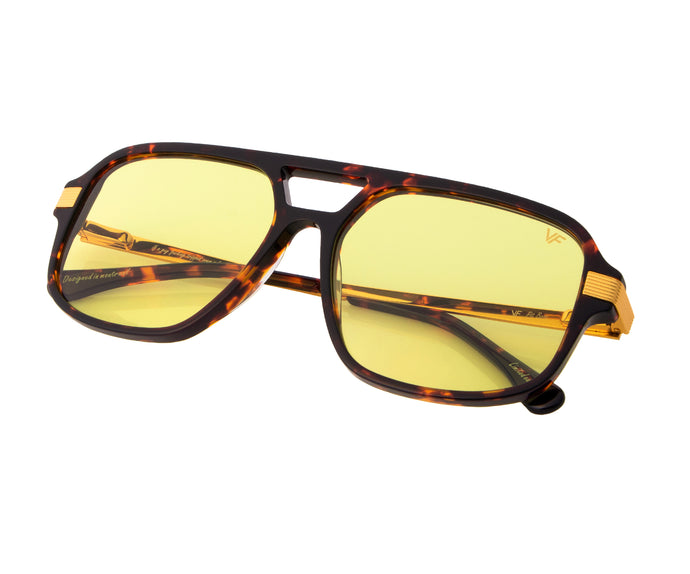 VF Pit Boss Brown Tortoise (Neon Yellow), VF Masterpiece, vintage frames, vintage frame, vintage sunglasses, vintage glasses, retro sunglasses, retro glasses, vintage glasses, vintage designer sunglasses, vintage design glasses, eyeglass frames, glasses frames, sunglass frames, sunglass, eyeglass, glasses, lens, jewelry, vintage frames company, vf