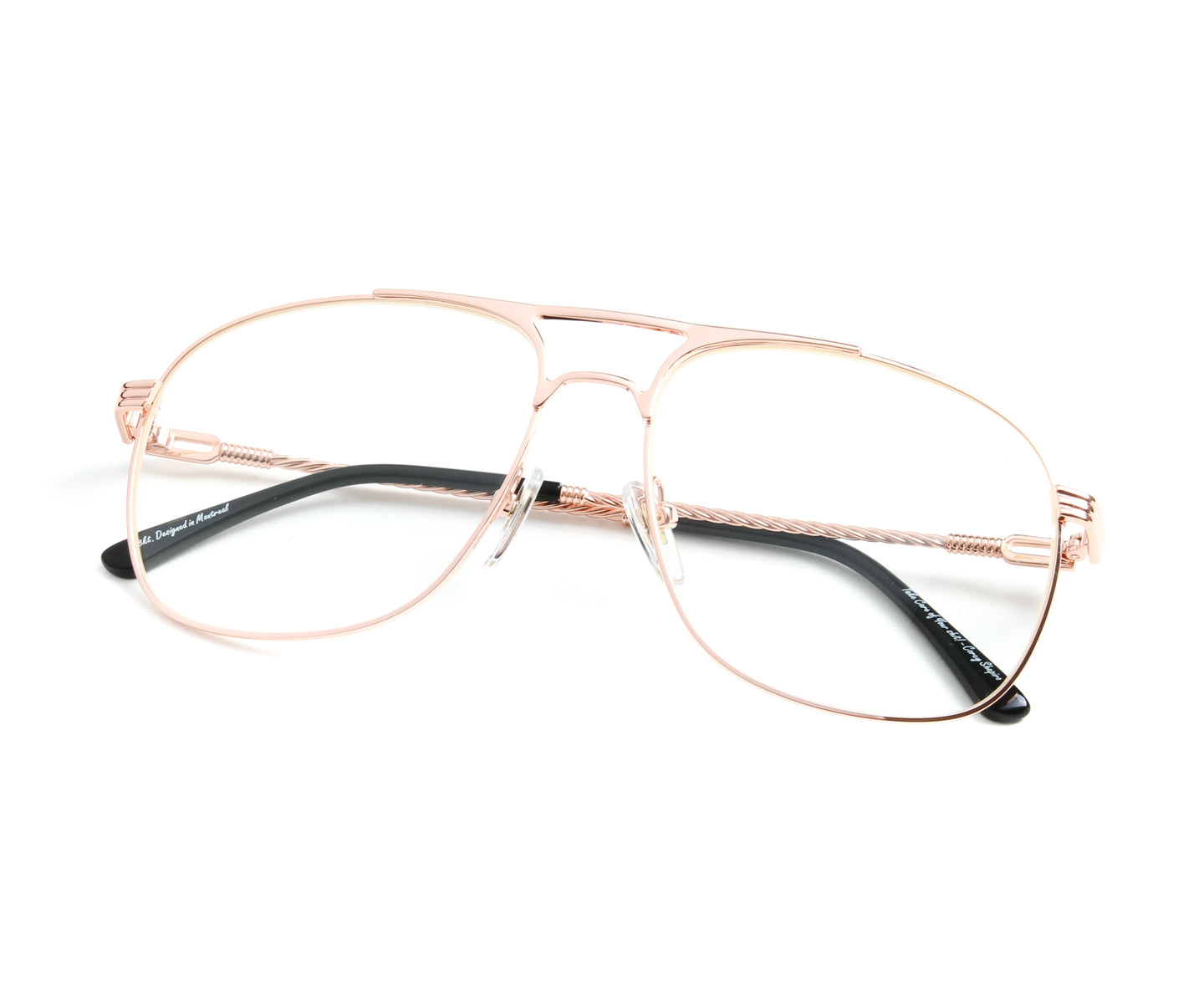 VF Snatch 18KT Rose Gold (Clear), VF by Vintage Frames , glasses frames, eyeglasses online, eyeglass frames, mens glasses, womens glasses, buy glasses online, designer eyeglasses, vintage sunglasses, retro sunglasses, vintage glasses, sunglass, eyeglass, glasses, lens, vintage frames company, vf