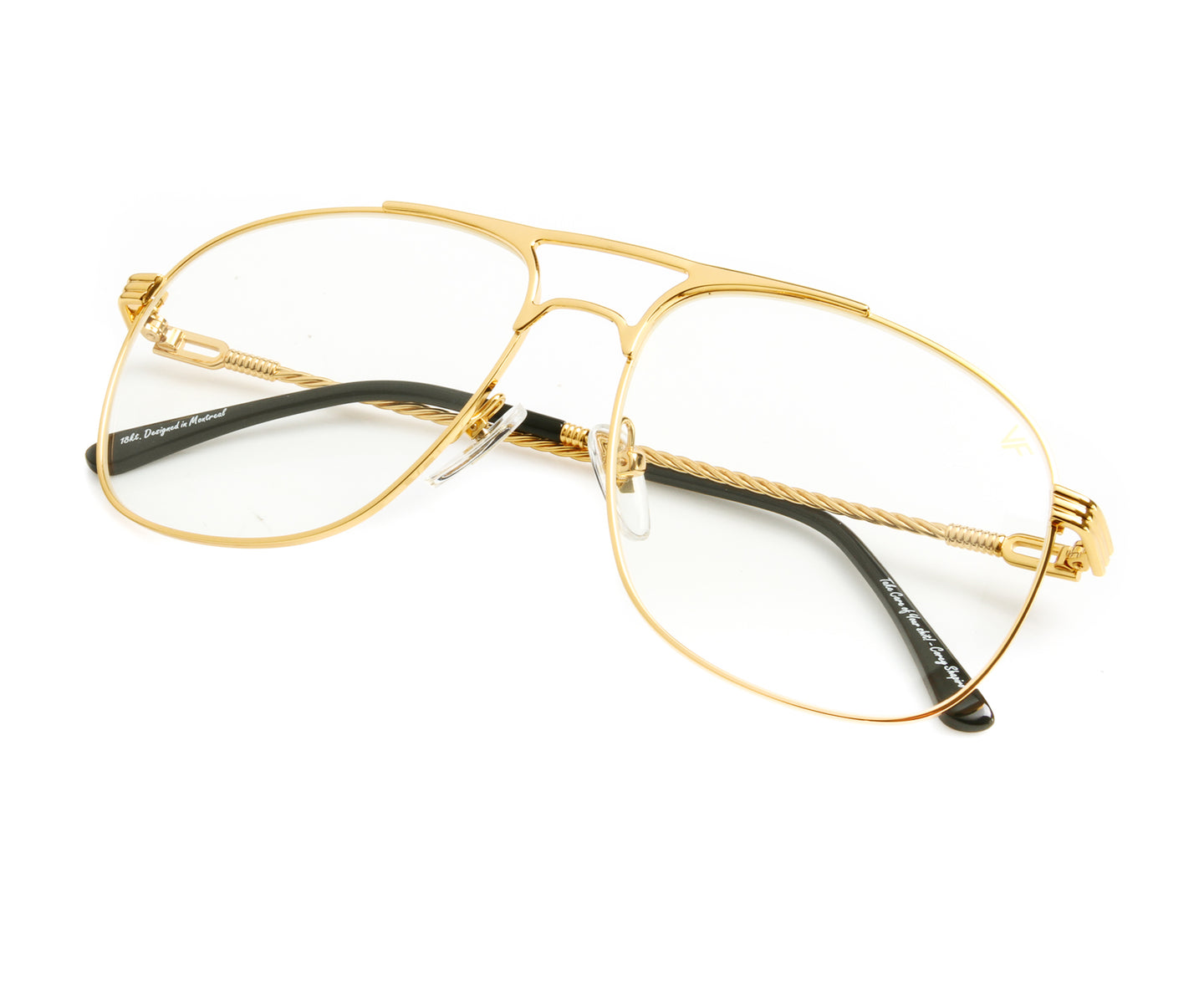 VF Snatch 18KT Gold (Clear), VF by Vintage Frames , glasses frames, eyeglasses online, eyeglass frames, mens glasses, womens glasses, buy glasses online, designer eyeglasses, vintage sunglasses, retro sunglasses, vintage glasses, sunglass, eyeglass, glasses, lens, vintage frames company, vf