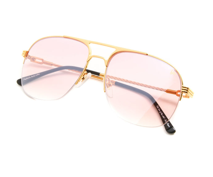 VF Snatch Half Rim 18KT Gold (Nickel Pink) Thumb, VF by Vintage Frames, vintage frames, vintage frame, vintage sunglasses, vintage glasses, retro sunglasses, retro glasses, vintage glasses, vintage designer sunglasses, vintage design glasses, eyeglass frames, glasses frames, sunglass frames, sunglass, eyeglass, glasses, lens, jewelry, vintage frames company, vf