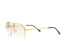 VF Snatch Half Rim 18KT Gold (Brown Smoke) Side, VF Half-Rim, glasses frames, eyeglasses online, eyeglass frames, mens glasses, womens glasses, buy glasses online, designer eyeglasses, vintage sunglasses, retro sunglasses, vintage glasses, sunglass, eyeglass, glasses, lens, vintage frames company, vf