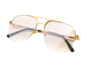 , VF Snatch Half Rim 18KT Gold (Brown Smoke), VF by Vintage Frames, glasses frames, eyeglasses online, eyeglass frames, mens glasses, womens glasses, buy glasses online, designer eyeglasses, vintage sunglasses, retro sunglasses, vintage glasses, sunglass, eyeglass, glasses, lens, vintage frames company, vf