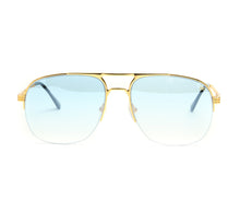 VF Snatch Half Rim 18KT Gold (Tiffany Blue) Front, VF by Vintage Frames, glasses frames, eyeglasses online, eyeglass frames, mens glasses, womens glasses, buy glasses online, designer eyeglasses, vintage sunglasses, retro sunglasses, vintage glasses, sunglass, eyeglass, glasses, lens, vintage frames company, vf