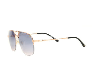 VF Snatch Half Rim 18KT Rose Gold (Black / Pink) Side, VF by Vintage Frames, glasses frames, eyeglasses online, eyeglass frames, mens glasses, womens glasses, buy glasses online, designer eyeglasses, vintage sunglasses, retro sunglasses, vintage glasses, sunglass, eyeglass, glasses, lens, vintage frames company, vf