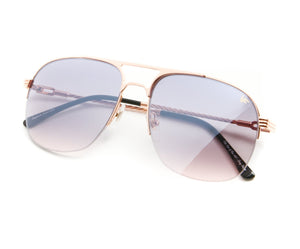 VF Snatch Half Rim 18KT Rose Gold (Black / Pink) Thumb, VF by Vintage Frames, glasses frames, eyeglasses online, eyeglass frames, mens glasses, womens glasses, buy glasses online, designer eyeglasses, vintage sunglasses, retro sunglasses, vintage glasses, sunglass, eyeglass, glasses, lens, vintage frames company, vf