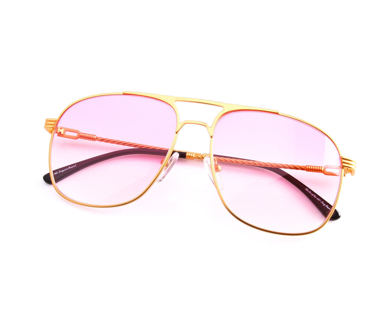 VF Snatch 18KT Satin Gold (Baby Pink), VF by Vintage Frames , glasses frames, eyeglasses online, eyeglass frames, mens glasses, womens glasses, buy glasses online, designer eyeglasses, vintage sunglasses, retro sunglasses, vintage glasses, sunglass, eyeglass, glasses, lens, vintage frames company, vf