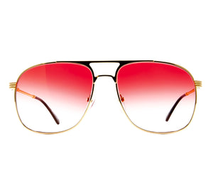 VF Snatch 18KT Gold Signature Edition (Red Gradient) Front, VF by Vintage Frames, glasses frames, eyeglasses online, eyeglass frames, mens glasses, womens glasses, buy glasses online, designer eyeglasses, vintage sunglasses, retro sunglasses, vintage glasses, sunglass, eyeglass, glasses, lens, vintage frames company, vf