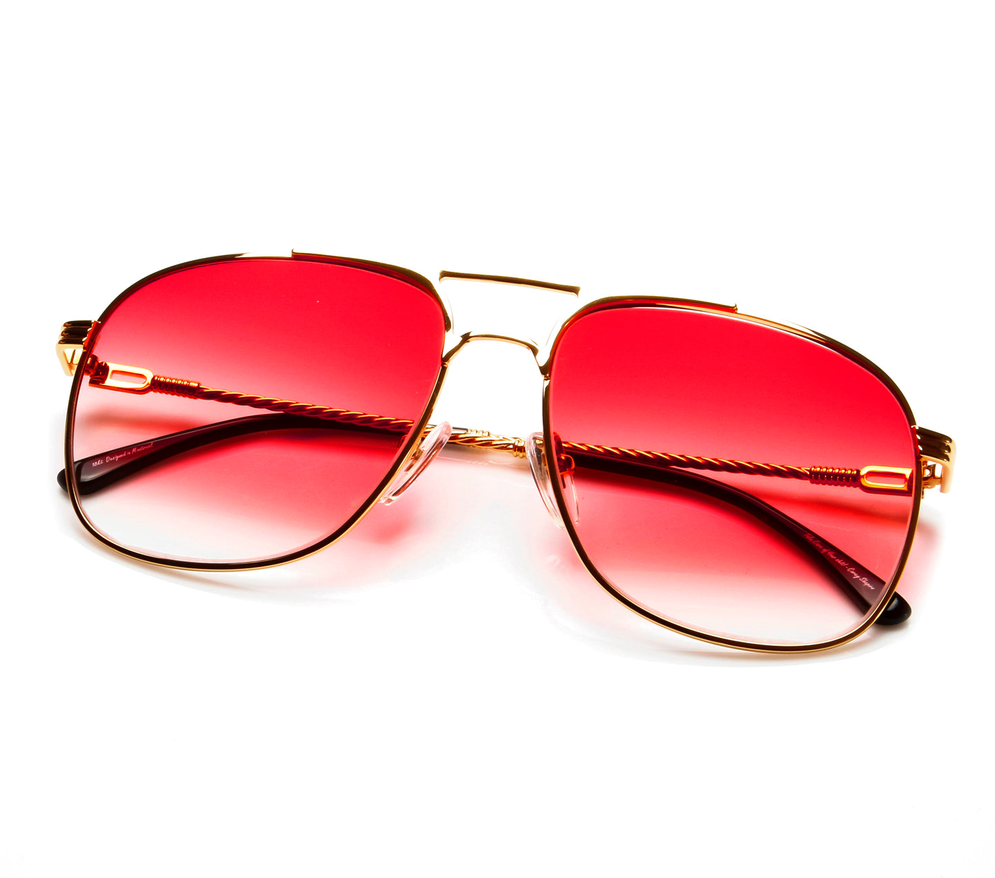 VF Snatch 18KT Gold Signature Edition (Red Gradient) Thumb, VF by Vintage Frames , glasses frames, eyeglasses online, eyeglass frames, mens glasses, womens glasses, buy glasses online, designer eyeglasses, vintage sunglasses, retro sunglasses, vintage glasses, sunglass, eyeglass, glasses, lens, vintage frames company, vf
