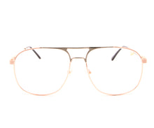 VF Snatch 18KT Rose Gold Two-Tone Signature Edition (Clear) Front, VF by Vintage Frames, glasses frames, eyeglasses online, eyeglass frames, mens glasses, womens glasses, buy glasses online, designer eyeglasses, vintage sunglasses, retro sunglasses, vintage glasses, sunglass, eyeglass, glasses, lens, vintage frames company, vf