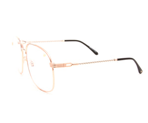 VF Snatch 18KT Rose Gold Two-Tone Signature Edition (Clear) Side, VF by Vintage Frames, glasses frames, eyeglasses online, eyeglass frames, mens glasses, womens glasses, buy glasses online, designer eyeglasses, vintage sunglasses, retro sunglasses, vintage glasses, sunglass, eyeglass, glasses, lens, vintage frames company, vf