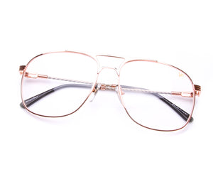 VF Snatch 18KT Rose Gold Two-Tone Signature Edition (Clear), VF by Vintage Frames, glasses frames, eyeglasses online, eyeglass frames, mens glasses, womens glasses, buy glasses online, designer eyeglasses, vintage sunglasses, retro sunglasses, vintage glasses, sunglass, eyeglass, glasses, lens, vintage frames company, vf