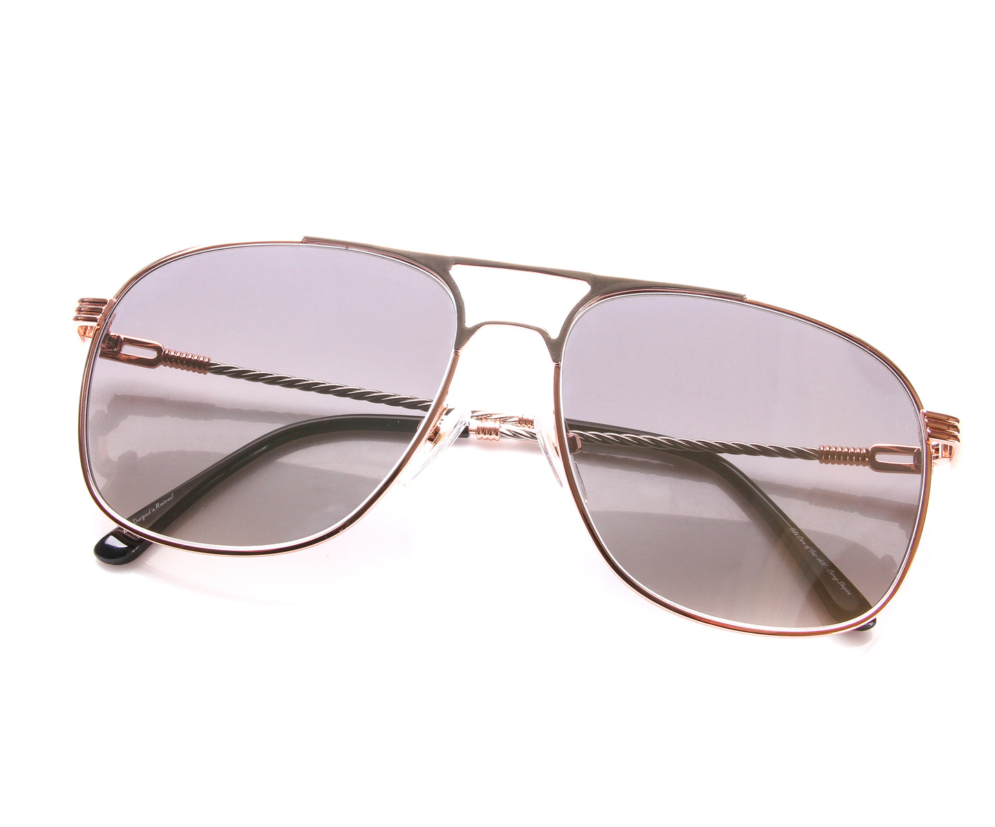 VF Snatch 18KT Rose Gold Two-Tone Signature Edition (Light Smoke), VF by Vintage Frames , glasses frames, eyeglasses online, eyeglass frames, mens glasses, womens glasses, buy glasses online, designer eyeglasses, vintage sunglasses, retro sunglasses, vintage glasses, sunglass, eyeglass, glasses, lens, vintage frames company, vf