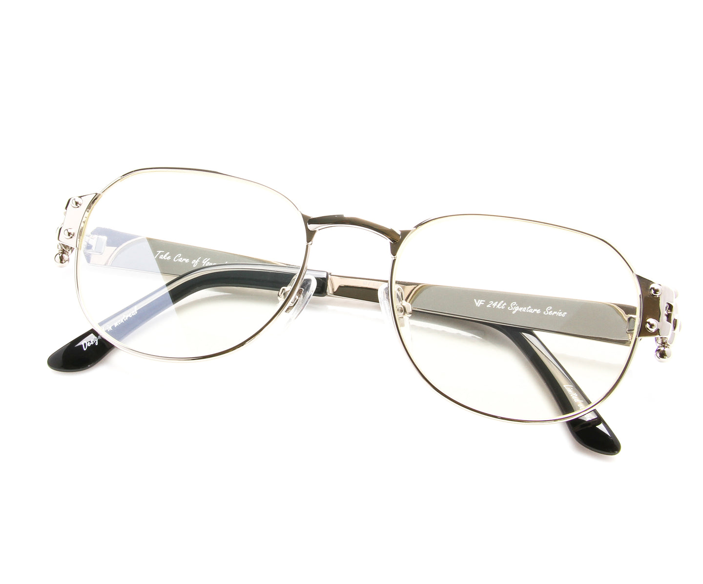 VF 1999 24KT White Gold Masterpiece (Flash Silver), VF Masterpiece , glasses frames, eyeglasses online, eyeglass frames, mens glasses, womens glasses, buy glasses online, designer eyeglasses, vintage sunglasses, retro sunglasses, vintage glasses, sunglass, eyeglass, glasses, lens, vintage frames company, vf