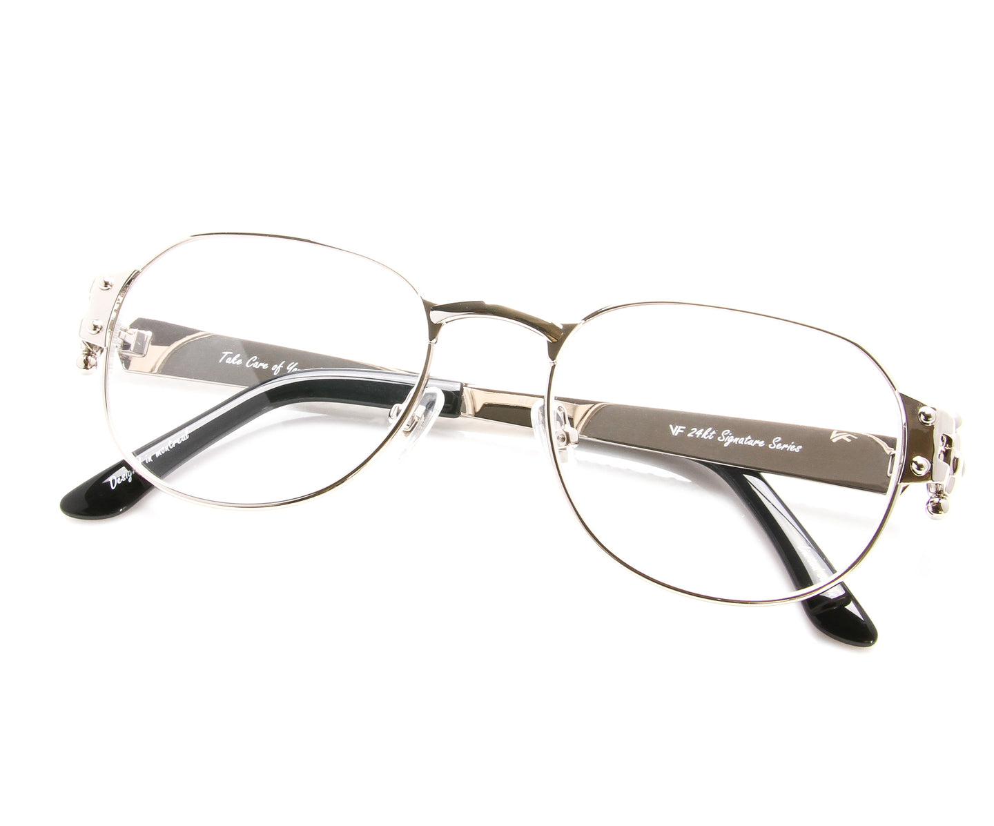 VF 1999 24KT White Gold Masterpiece (Clear), VF Masterpiece , glasses frames, eyeglasses online, eyeglass frames, mens glasses, womens glasses, buy glasses online, designer eyeglasses, vintage sunglasses, retro sunglasses, vintage glasses, sunglass, eyeglass, glasses, lens, vintage frames company, vf