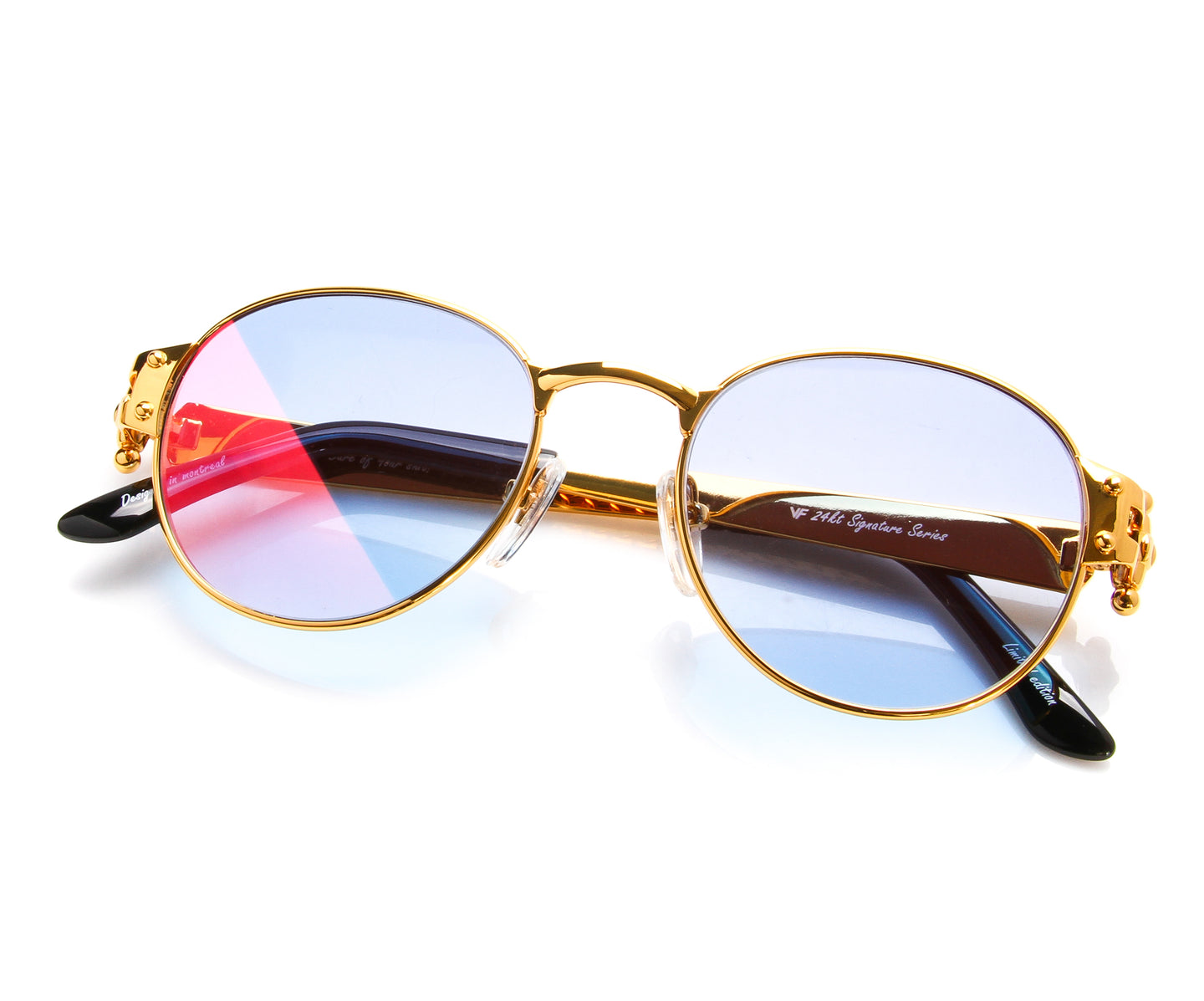 VF 1998 24KT Gold Masterpiece (Two-Tone Mauve), VF Masterpiece , glasses frames, eyeglasses online, eyeglass frames, mens glasses, womens glasses, buy glasses online, designer eyeglasses, vintage sunglasses, retro sunglasses, vintage glasses, sunglass, eyeglass, glasses, lens, vintage frames company, vf