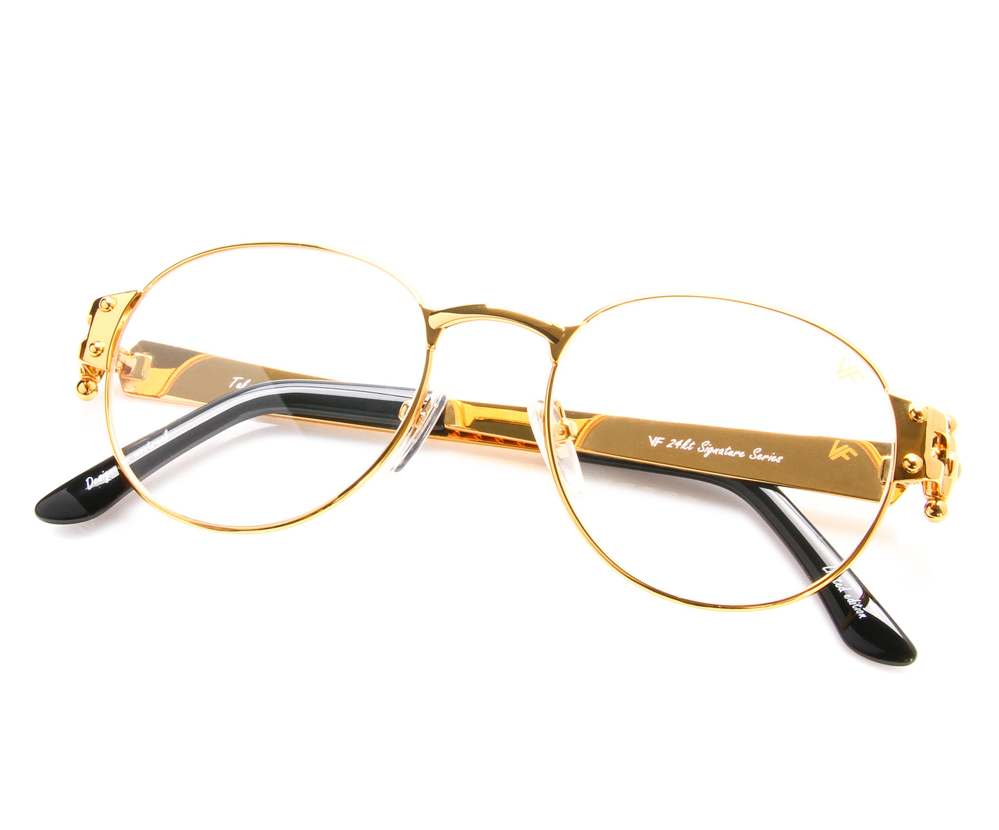 VF 1998 24KT Gold Masterpiece (Clear), VF Masterpiece , glasses frames, eyeglasses online, eyeglass frames, mens glasses, womens glasses, buy glasses online, designer eyeglasses, vintage sunglasses, retro sunglasses, vintage glasses, sunglass, eyeglass, glasses, lens, vintage frames company, vf