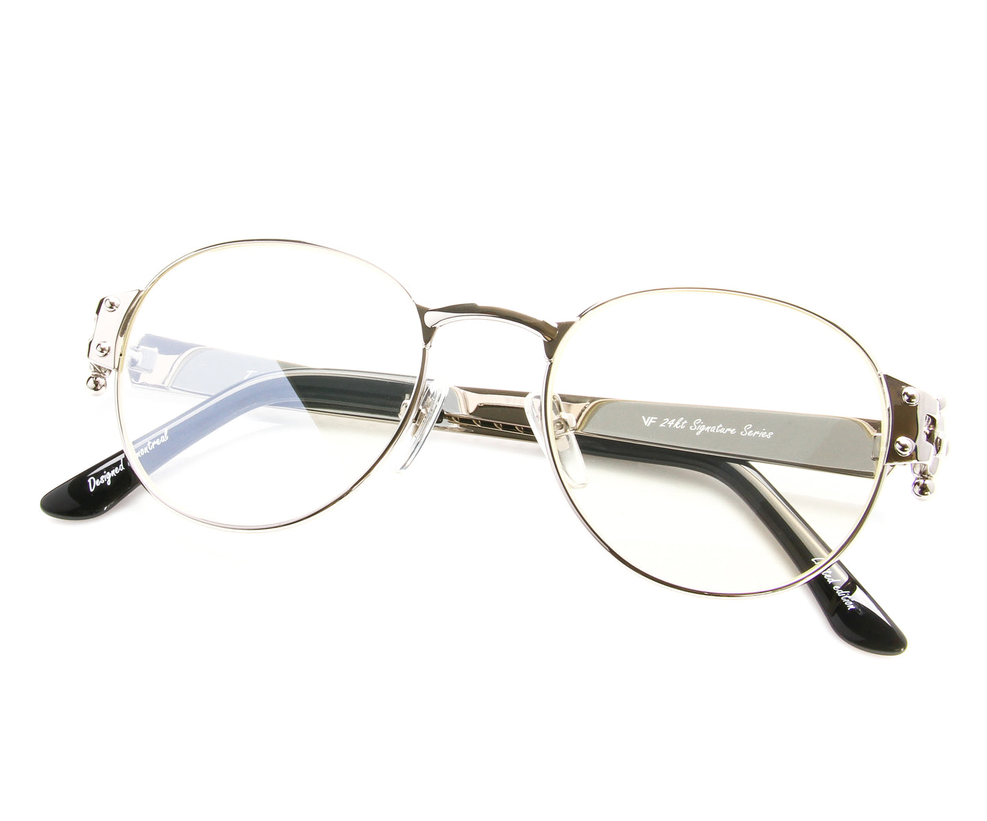 VF 1998 24KT White Gold Masterpiece (Flash Silver), VF Masterpiece , glasses frames, eyeglasses online, eyeglass frames, mens glasses, womens glasses, buy glasses online, designer eyeglasses, vintage sunglasses, retro sunglasses, vintage glasses, sunglass, eyeglass, glasses, lens, vintage frames company, vf