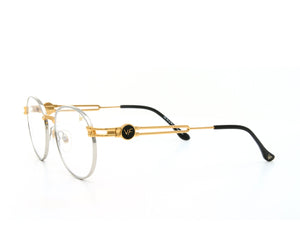 VF Tokyo A5 24KT Two-Tone (Clear) Side, VF Masterpiece, glasses frames, eyeglasses online, eyeglass frames, mens glasses, womens glasses, buy glasses online, designer eyeglasses, vintage sunglasses, retro sunglasses, vintage glasses, sunglass, eyeglass, glasses, lens, vintage frames company, vf