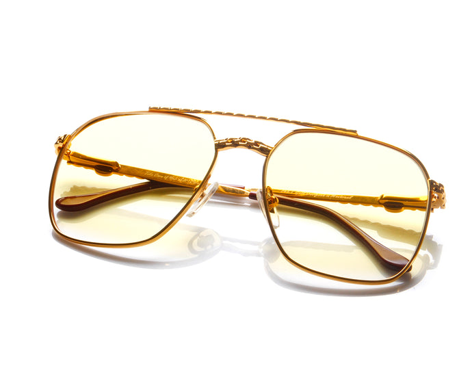 VF XL Masterpiece 24KT Gold (Yellow Gradient) Thumbnail, VF Masterpiece, vintage frames, vintage frame, vintage sunglasses, vintage glasses, retro sunglasses, retro glasses, vintage glasses, vintage designer sunglasses, vintage design glasses, eyeglass frames, glasses frames, sunglass frames, sunglass, eyeglass, glasses, lens, jewelry, vintage frames company, vf