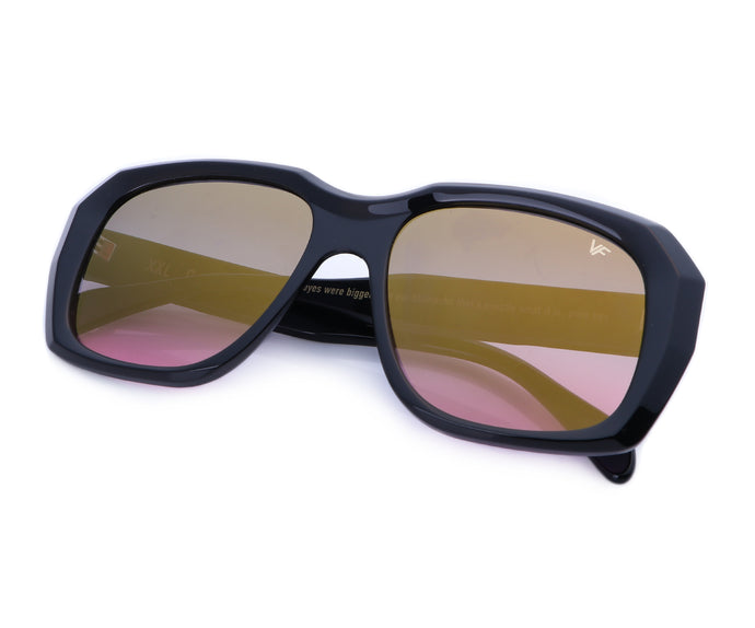 VF XXL Geometric Black (Black / Pink Flash Gold), Ace Rothstein, vintage frames, vintage frame, vintage sunglasses, vintage glasses, retro sunglasses, retro glasses, vintage glasses, vintage designer sunglasses, vintage design glasses, eyeglass frames, glasses frames, sunglass frames, sunglass, eyeglass, glasses, lens, jewelry, vintage frames company, vf