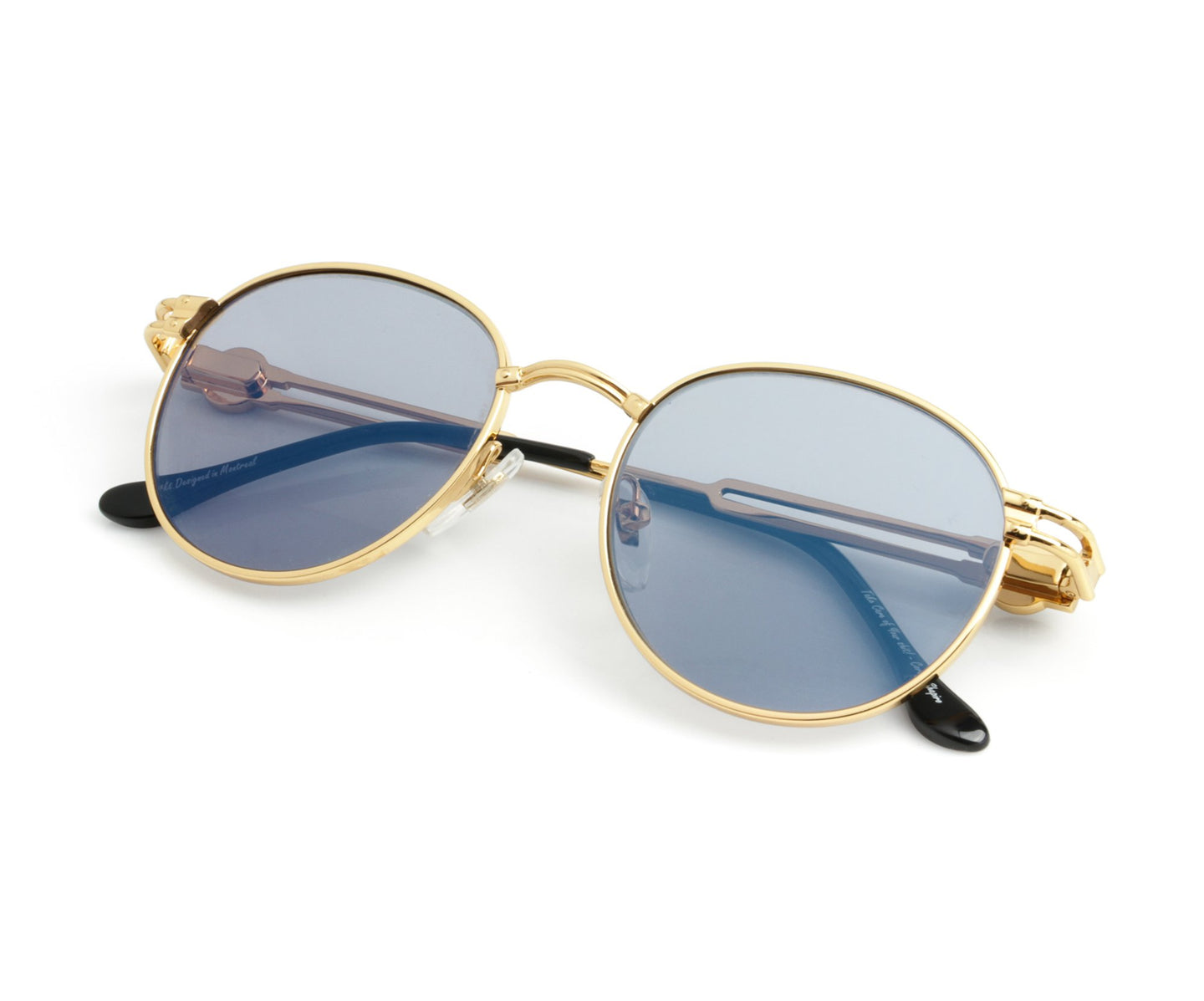 VF Tokyo A5 24KT Gold (Gray Flash Blue) Thumb, VF Masterpiece , glasses frames, eyeglasses online, eyeglass frames, mens glasses, womens glasses, buy glasses online, designer eyeglasses, vintage sunglasses, retro sunglasses, vintage glasses, sunglass, eyeglass, glasses, lens, vintage frames company, vf
